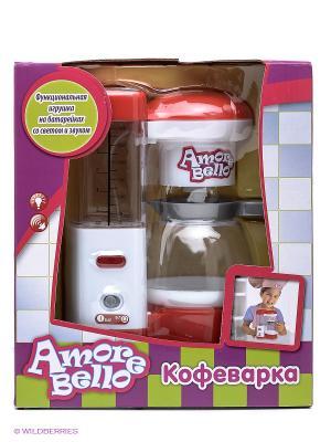 Кофеварка Amore Bello. Цвет: белый, красный
