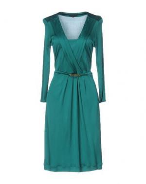 Платье до колена SILK AND SOIE. Цвет: изумрудно-зеленый