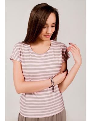 Блуза Марка Котовых. Цвет: розовый
