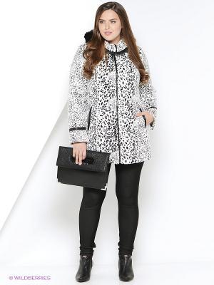 Пальто утепленное Socrat. Цвет: черный, белый