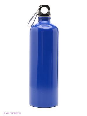Бутылка для воды с карабином Campland. Цвет: синий