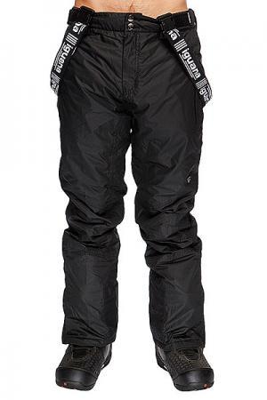 Штаны сноубордические  Salopette Black Iguana. Цвет: черный