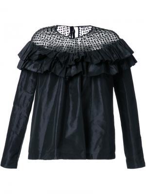 Полупрозрачная блузка Isa Arfen. Цвет: чёрный