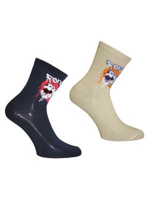 Носки 2 пары Master Socks. Цвет: бежевый, коричневый