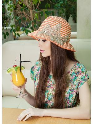 Шляпа AVANTA. Цвет: оранжевый