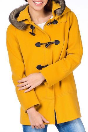 Пальто NARAMAXX. Цвет: оранжевый