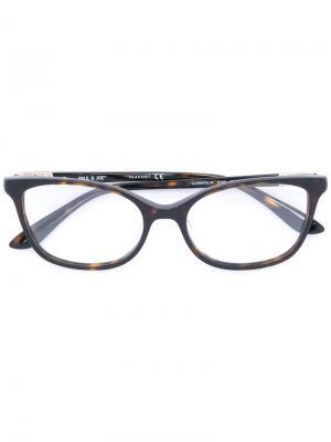 Patterned glasses Paul & Joe. Цвет: коричневый