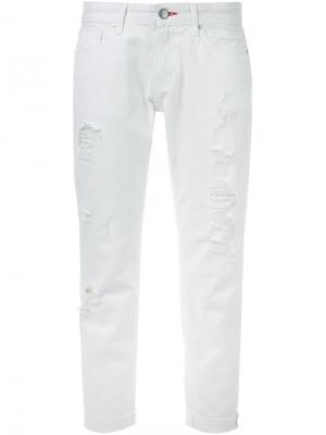Укороченные джинсы Guild Prime. Цвет: белый