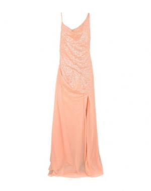 Длинное платье HALSTON HERITAGE. Цвет: лососево-розовый