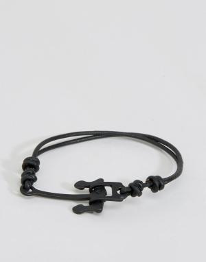 Icon Brand Черный браслет с якорем Alton. Цвет: черный