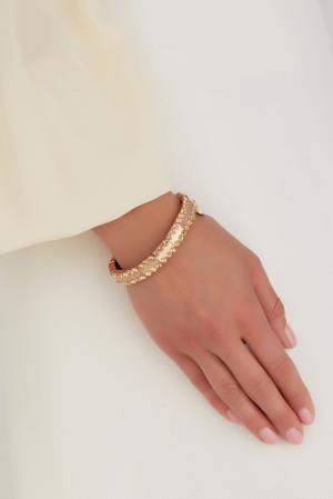 Браслет из латуни с кристаллами Swarovski Philippe Audibert. Цвет: золотой