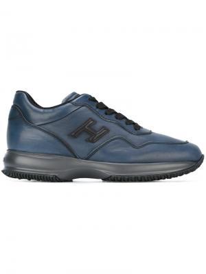 Кроссовки с логотипом Hogan. Цвет: синий