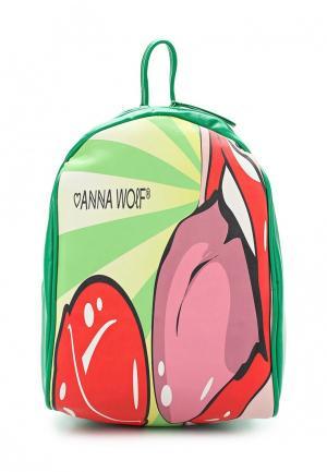 Рюкзак Anna Wolf. Цвет: зеленый