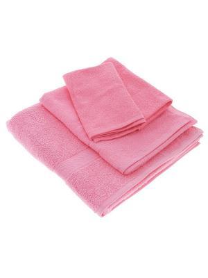 Махровое полотенце-розовый-70х140-100% хлопок, УзТ-МПБ-004-02-04 Aisha. Цвет: розовый