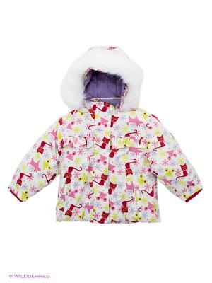 Куртка KUUTTI. Цвет: белый, салатовый, малиновый, розовый