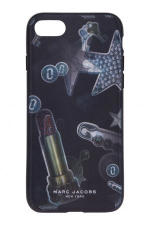 Чехол для iPhone 7 Marc Jacobs. Цвет: черный