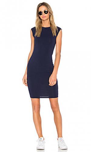 Платье obi LA Made. Цвет: синий