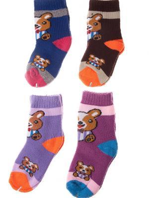 Набор носочков Pretty Mania. Цвет: синий, коричневый, сиреневый, фиолетовый