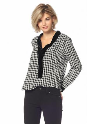 Блузка Laura Scott. Цвет: черный/белый/с рисунком