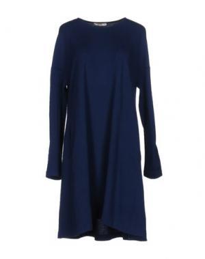 Короткое платье BARBON. Цвет: синий