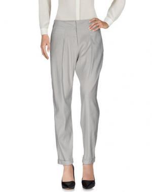 Повседневные брюки DONNA KARAN. Цвет: светло-серый