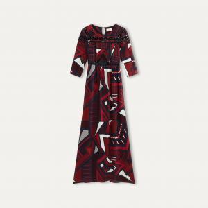 Платье длинное JASMINE BA&SH. Цвет: темно-синий