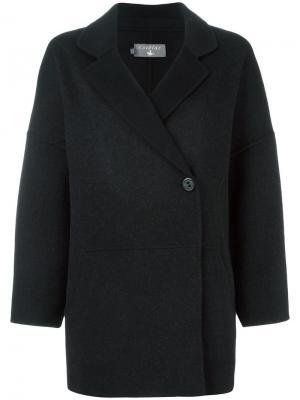 Пальто с запахом Cotélac. Цвет: чёрный