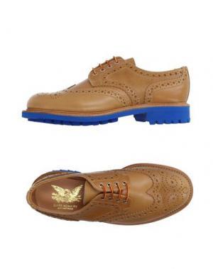 Обувь на шнурках MARK MCNAIRY. Цвет: верблюжий
