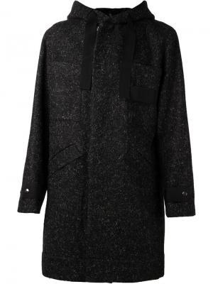 Пальто с капюшоном Massot Tillmann Lauterbach. Цвет: чёрный