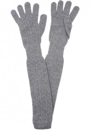 Удлиненные перчатки из кашемира Kashja` Cashmere. Цвет: серый