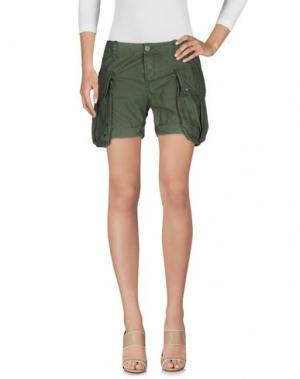 Повседневные шорты RA-RE. Цвет: зеленый-милитари