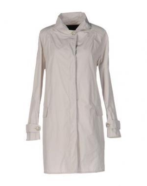 Легкое пальто SALCO. Цвет: светло-серый