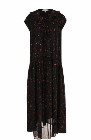 Платье свободного кроя с цветочным принтом Iro. Цвет: разноцветный