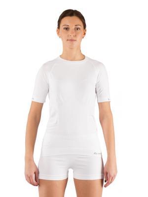 Футболка женская Lasting Alba, белая. Цвет: белый