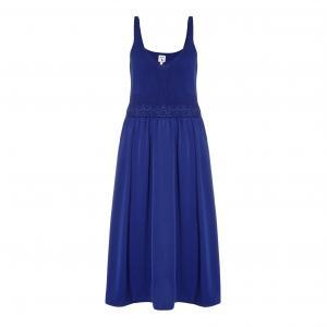 Платье длинное с тонкими бретелями YUMI. Цвет: синий