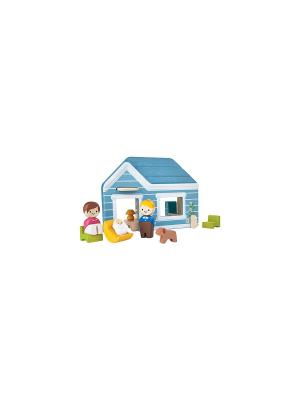 Дом PLAN TOYS. Цвет: голубой