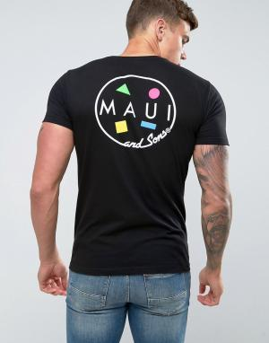 Maui & Sons Футболка с принтом логотипа Cookie. Цвет: черный