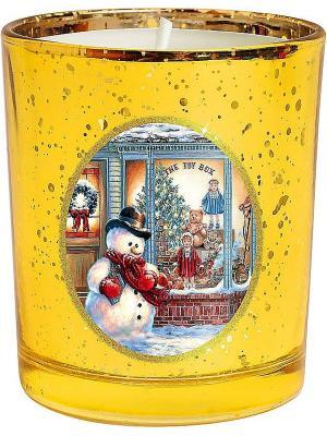 Свеча Mister Christmas. Цвет: желтый