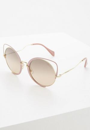 Очки солнцезащитные Miu. Цвет: розовый