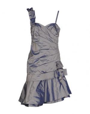 Платье до колена X'S MILANO. Цвет: серый