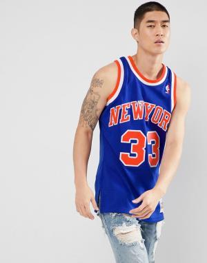 Mitchell & Ness Синяя майка NBA New York. Цвет: синий