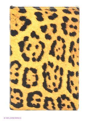 Визитница Леопардовый принт Mitya Veselkov. Цвет: оранжевый, черный