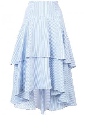Многоярусная юбка Marissa Webb. Цвет: синий