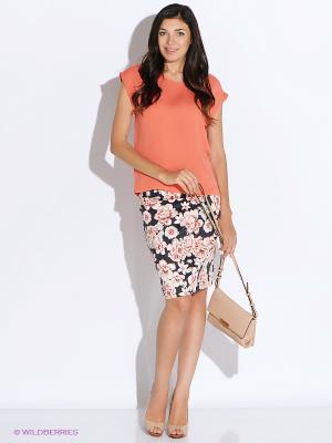 Блузка Top Secret. Цвет: оранжевый