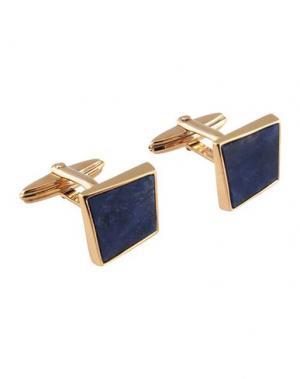 Запонки и зажимы для галстука LANVIN. Цвет: темно-синий