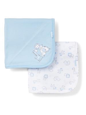 Комплект из 2-х одеял Сафари Little Me. Цвет: голубой, белый