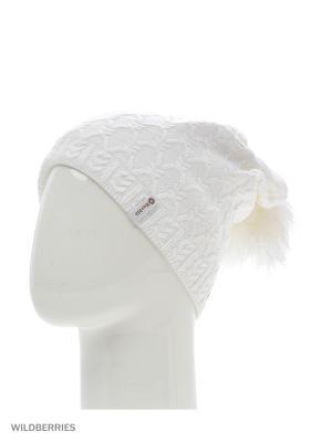 Фабритти Беркле шапка женская с помпоном Berkle. Цвет: белый