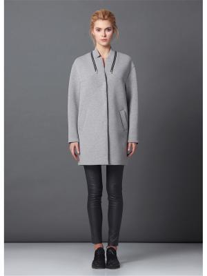 Пальто Burvin. Цвет: серый