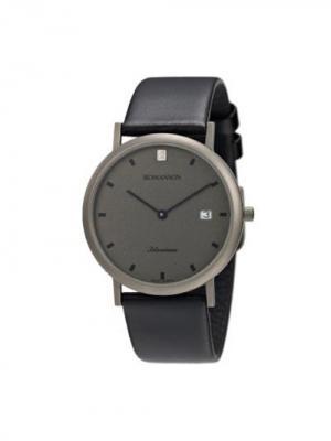 Часы UL0576NM Romanson. Цвет: черный, серебристый