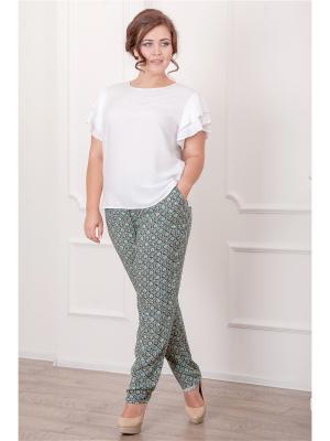 Комплект одежды CLEO. Цвет: белый, зеленый